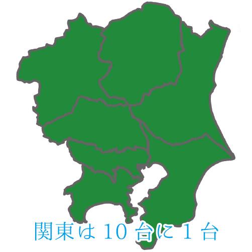 関東では10台に1台